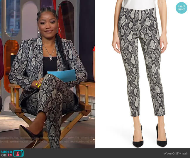 Gloriane Pants by Alice + Olivia worn by Keke Palmer  on Good Morning America