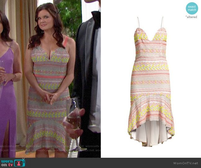 Alice + Olivia Amina Beaded Dress worn by Katie Logan (Heather Tom) on The Bold & the Beautiful