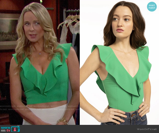 Alice + Olivia Pria Top worn by Donna Logan (Jennifer Gareis) on The Bold & the Beautiful