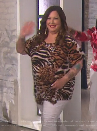 Carnie Wilson's animal print top on The Talk