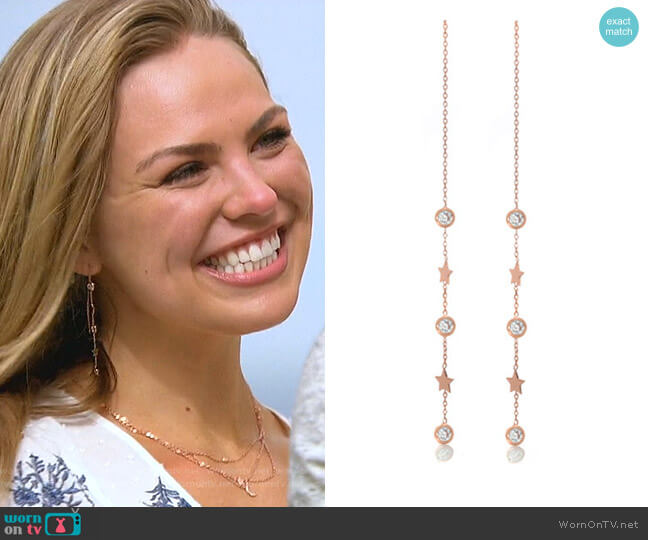 Sunny Necklace in Gold by Robyn Rhodes worn by Hannah Brown  on The Bachelorette