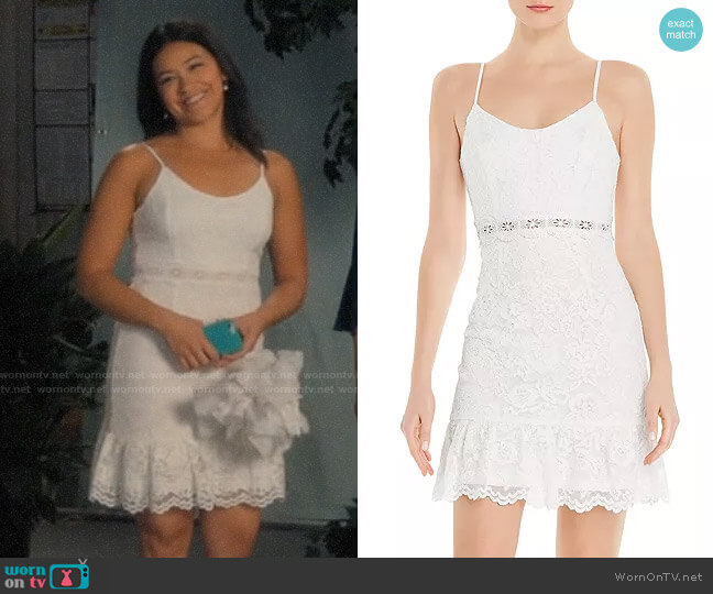 Aqua Lace Mini Dress worn by Jane Villanueva (Gina Rodriguez) on Jane the Virgin