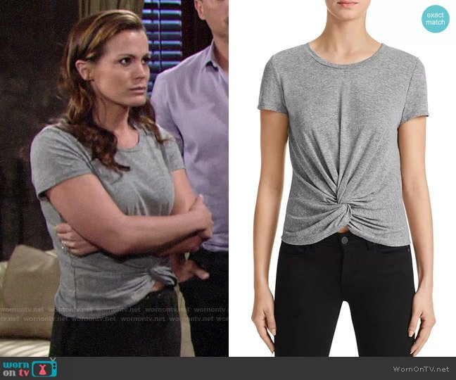 Aqua Twist-Front Tee worn by Chelsea Lawson (Melissa Claire Egan) on The Young & the Restless