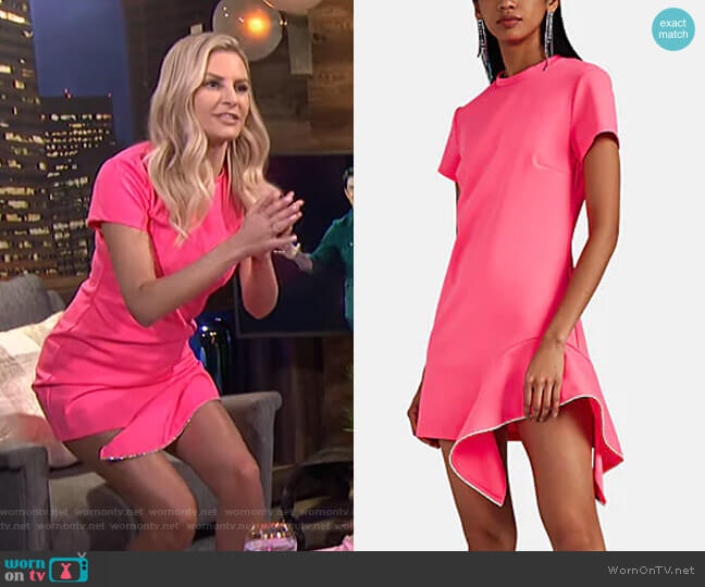 Crystal-Embellished T-Shirt Dress by Area worn by Morgan Stewart  on E! News