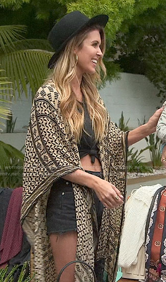 Audrina's printed kimono on The Hills New Beginnings