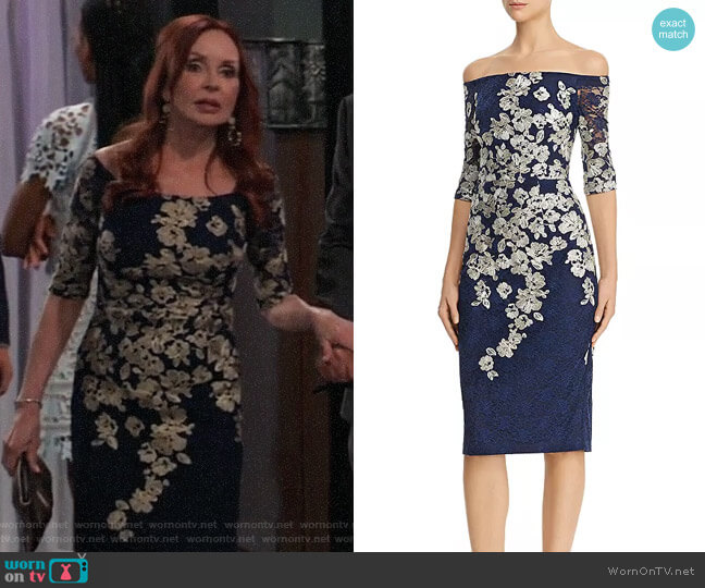 Avery G Embroidered-Lace Midi Dress worn by Bobbie Spencer (Jackie Zeman) on General Hospital