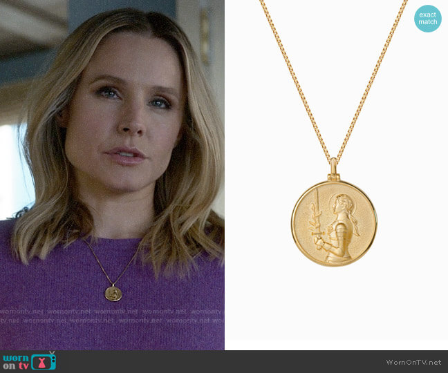 Awe Joan of Ark Coin Necklace worn by Veronica Mars (Kristen Bell) on Veronica Mars