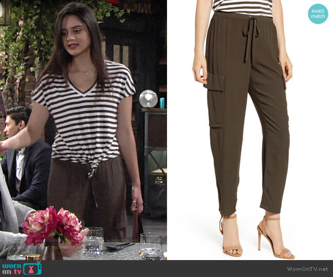 Bailey 44 Guerilla Pants worn by Lola Rosales (Sasha Calle) on The Young & the Restless