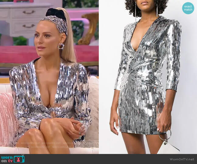 Sequin Embellished Mini Dress by Balmain worn by Dorit Kemsley  on The Real Housewives of Beverly Hills