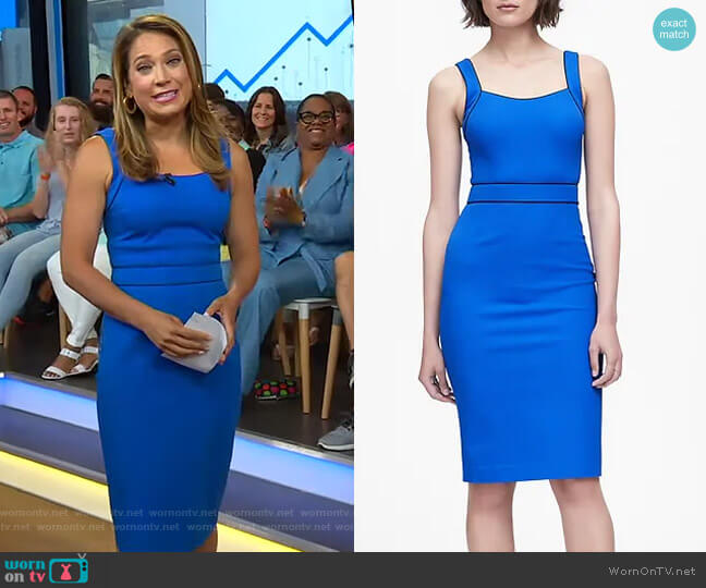 Bi-Stretch Sheath Dress by Banana Republic worn by Ginger Zee  on Good Morning America