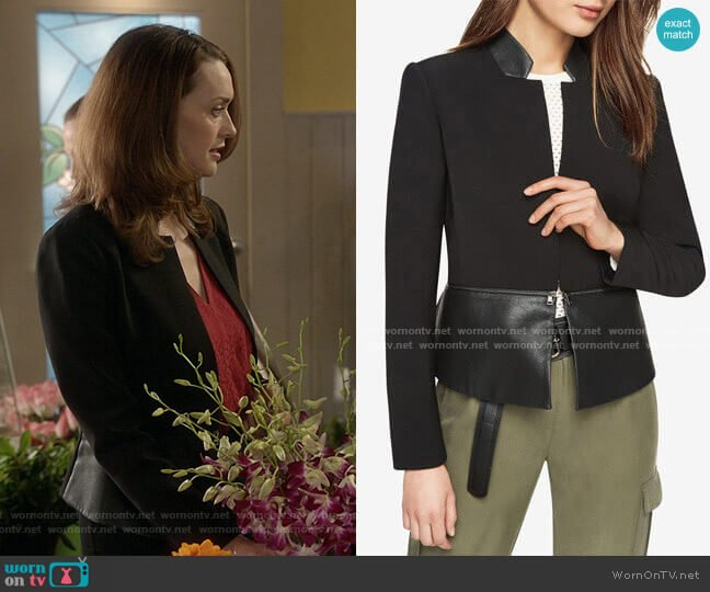 'Barrett' Jacket by Bcbgmaxazria worn by Abigail Pershing (Sarah Power) on Good Witch