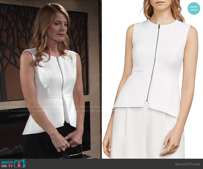 Bcbgmaxazria Abrielle Top worn by Phyllis Summers (Michelle Stafford) on The Young & the Restless
