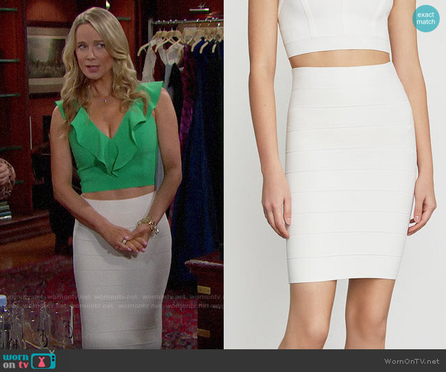 Bcbgmaxazria Alexa Skirt worn by Donna Logan (Jennifer Gareis) on The Bold & the Beautiful