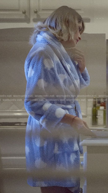 Becky's blue sheep robe on Scream