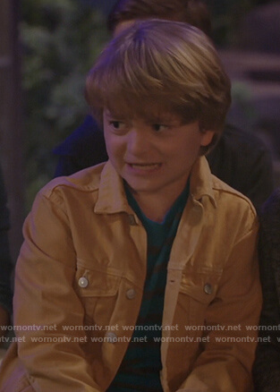 Finn's beige denim jacket on Bunkd
