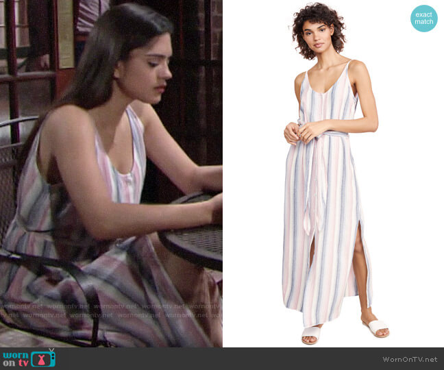 Bella Dahl Striped Belted Dress worn by Lola Rosales (Sasha Calle) on The Young & the Restless