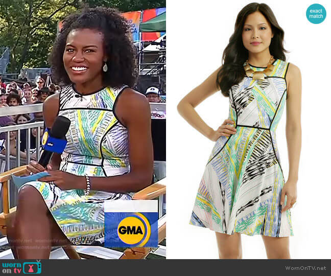 Bermuda Dunes Dress by Shoshanna worn by Janai Norman  on Good Morning America