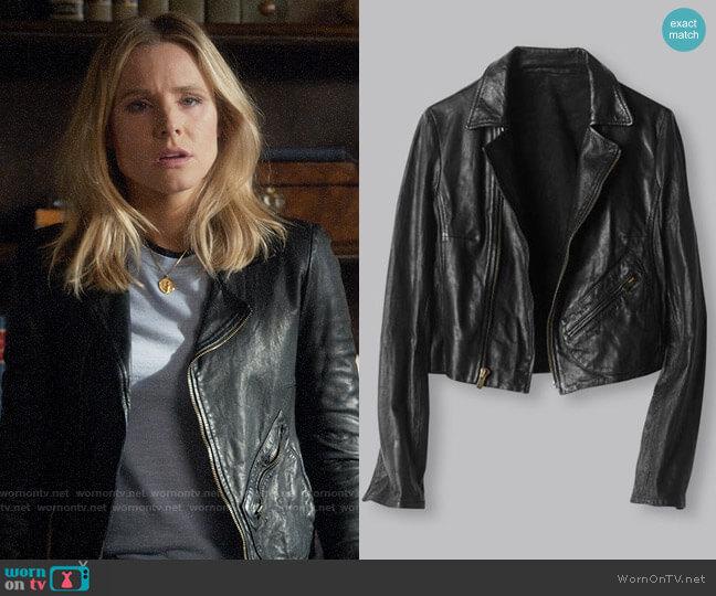 Billy Reid Classic Moto Jacket worn by Veronica Mars (Kristen Bell) on Veronica Mars