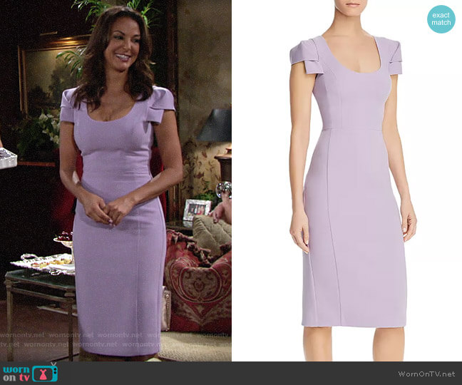 Black Halo Violet Amelie Sheath Dress worn by Celeste Rosales (Eva LaRue) on The Young & the Restless