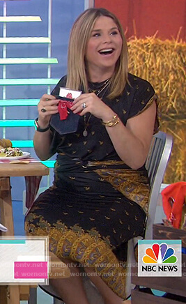 Jenna's black printed wrap dress on Today
