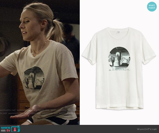 Bliss and Mischief Desert Bliss Tee worn by Veronica Mars (Kristen Bell) on Veronica Mars