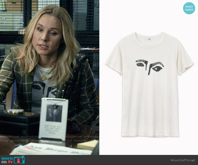 Bliss and Mischief Gaze Tee worn by Veronica Mars (Kristen Bell) on Veronica Mars