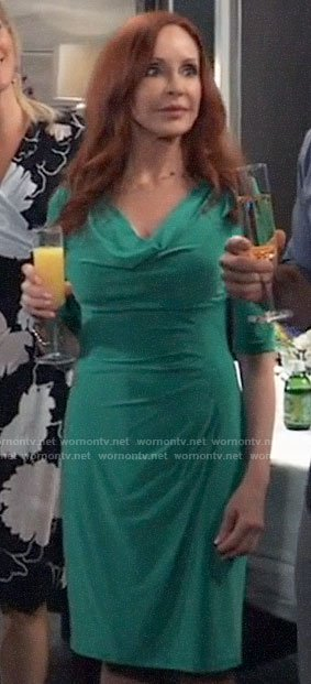 Bobbie's green cowl neck dress on General Hospital