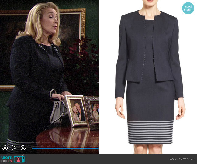 BOSS Dafila Dress worn by Nikki Reed Newman (Melody Thomas-Scott) on The Young & the Restless