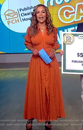 Sunny's brown button down dress on The View