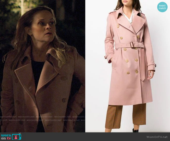 Burberry Cashmere Trench Coat worn by Madeline Martha Mackenzie (Reese Witherspoon) on Big Little Lies