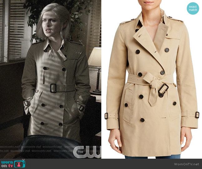Burberry Kensington Trench worn by Liv Moore (Rose McIver) on iZombie