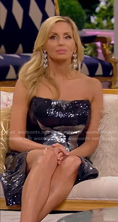 Camille's sequin strapless dress on The Real Housewives of Beverly Hills