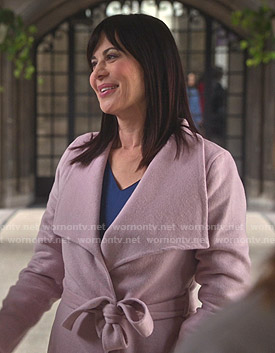 Cassie's pink wrap coat on Good Witch
