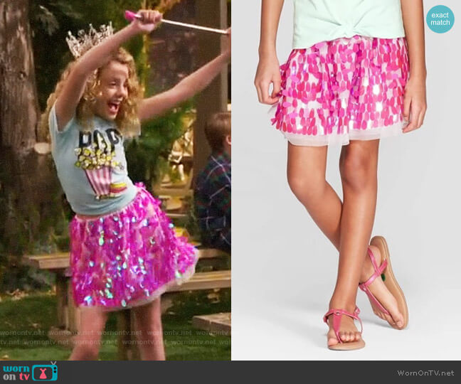 Target Cat & Jack Sequin Tutu Skirt  worn by Destiny Baker (Mallory James Mahoney) on Bunkd