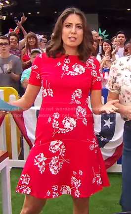 Cecilia's red floral dress on Good Morning America
