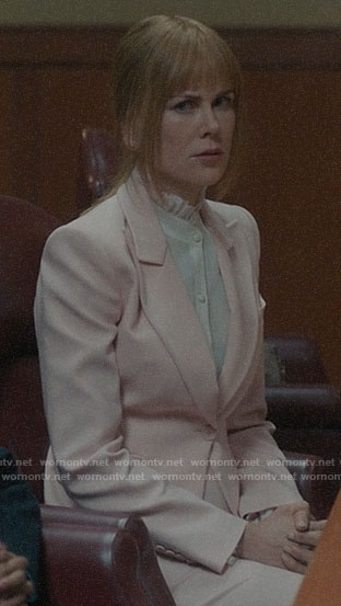 Celeste's blush pink suit on Big Little Lies