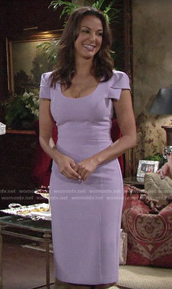 Celeste's purple July 4th dress on The Young and the Restless