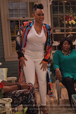 Cocoa's chain print dress on Family Reunion