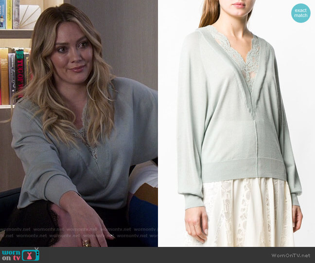 Lace Trim Jumper by Chloe worn by Kelsey Peters (Hilary Duff) on Younger