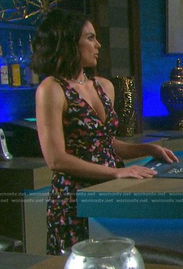 Chloe's printed sleeveless wrap dress on Days of our Lives