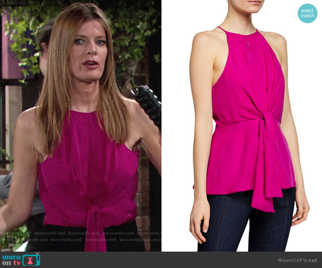 Cinq a Sept Bailey Top worn by Phyllis Summers (Michelle Stafford) on The Young & the Restless