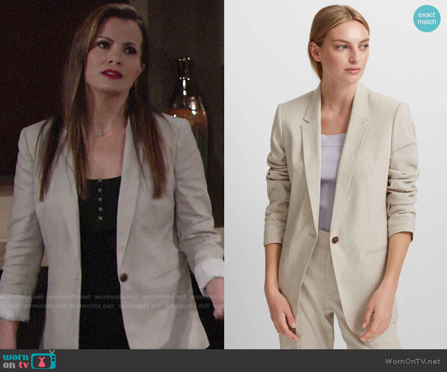 Club Monaco Hadarahh Blazer worn by Chelsea Lawson (Melissa Claire Egan) on The Young & the Restless