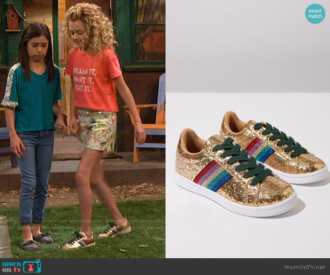 Cotton On Tibi Sneakers worn by Destiny Baker (Mallory James Mahoney) on Bunkd