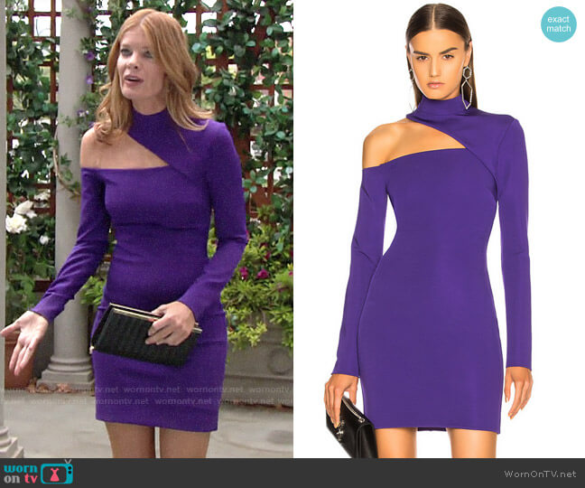 David Koma Cutout Jersey Dress worn by Phyllis Summers (Michelle Stafford) on The Young & the Restless