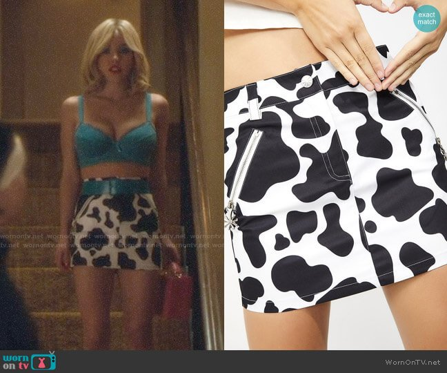 Delias by Dolls Kill Funk Therapy Mini Skirt worn by Cassie Howard (Sydney Sweeney) on Euphoria