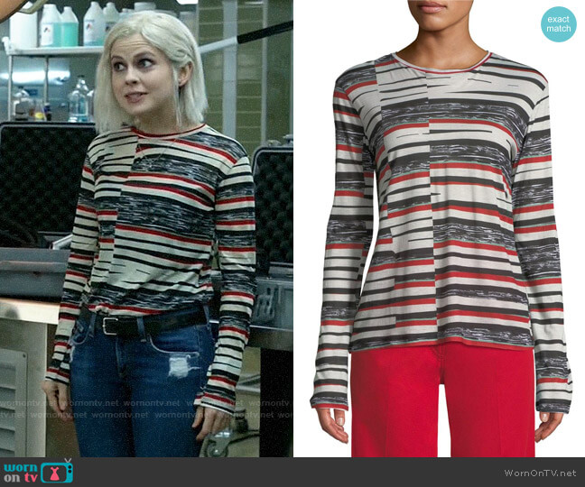 Derek Lam Long Sleeve Tee worn by Liv Moore (Rose McIver) on iZombie
