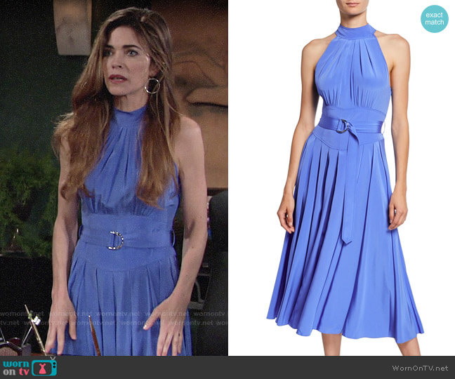 Diane von Furstenberg Nicola Dress worn by Victoria Newman (Amelia Heinle) on The Young & the Restless