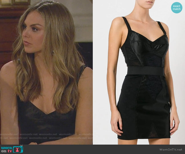 Corset Band Dress by Dolce & Gabbana worn by Hannah Brown  on The Bachelorette