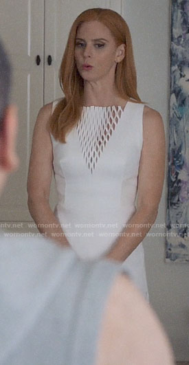 Donna's white fringed dress on Suits
