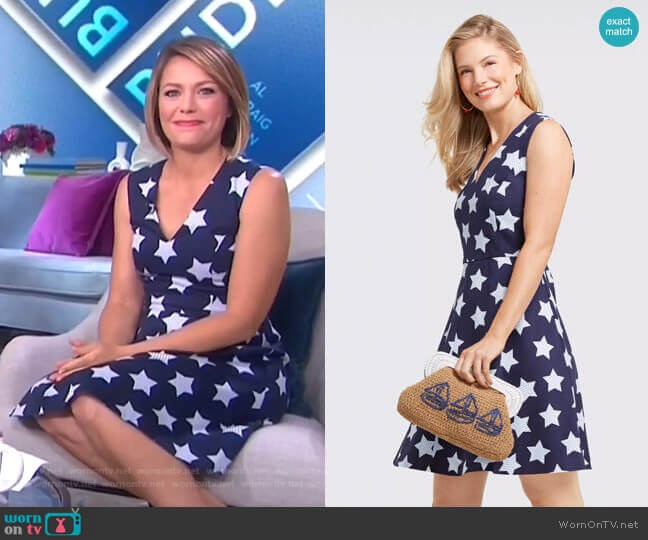 Oh My Stars Love Circle Dress by Draper James worn by Dylan Dreyer  on Today